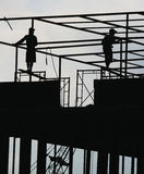 Working on the roof Royalty Free Stock Photo