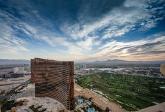 Working round-the-clock modern Vegas hotels and casinos Wynn and Encore Royalty Free Stock Photo