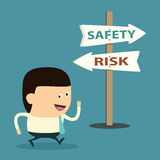Cartoon businessman work with Safety Stock Images