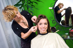 Working scene from hair salon Stock Photos