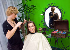 Working scene from hair salon Stock Images