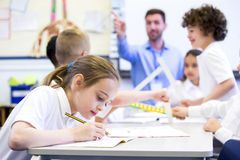 Working at School Royalty Free Stock Photo