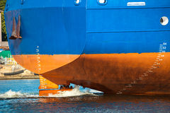 Working screw ship Stock Photo