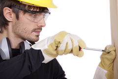 Working with screwdriver Royalty Free Stock Image