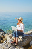 Working by the sea Stock Images