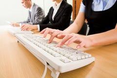 Working secretaries Royalty Free Stock Image