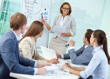 Working seminar Royalty Free Stock Photo