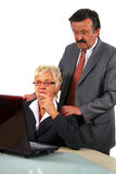 Working Senior Businessteam Stock Images