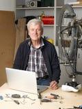 Working senior man Stock Photos