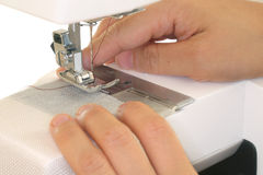 Working with sewing machine Royalty Free Stock Photography