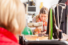 Working at the sewing machine Stock Image
