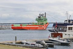 A working ship in Stavanger, Norway. Royalty Free Stock Images