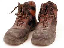 Working shoes. Old,wears out Stock Photos