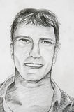 Working sketch of smile man Stock Photography