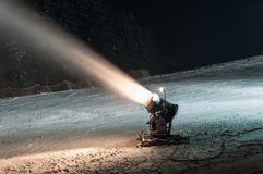 Working snow cannon Stock Photography