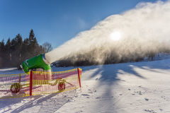 Working snow gun Royalty Free Stock Photography