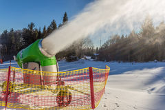 Working snow gun Royalty Free Stock Images