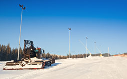 Working snowcat Royalty Free Stock Images