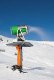 Working snowgun Royalty Free Stock Images
