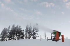 Working snowgun Royalty Free Stock Image