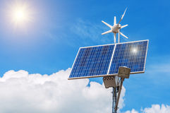 Working solar panel Royalty Free Stock Photos