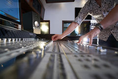 Working on soundboard Royalty Free Stock Photography