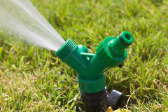 Working sprinkler Royalty Free Stock Images