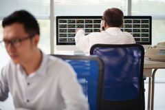 Working at stock exchange Stock Image
