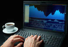 Working on stock market Royalty Free Stock Photography