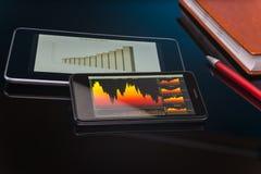 Working on stock market Stock Photos