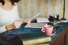 Working and studying at home concept Royalty Free Stock Photo