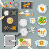 Working table of chef Stock Images