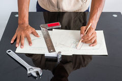 Working table of engineer Stock Image