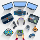 Working table of gamer Royalty Free Stock Photography