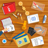 Working table of Judge Stock Image