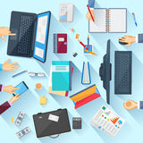 Working table of office executive Royalty Free Stock Photography