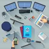 Working table of security Royalty Free Stock Photos
