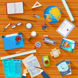 Working table of teacher Stock Image
