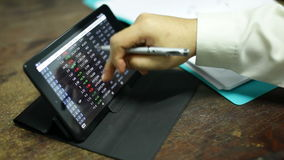 Working on tablet smartphone stock video