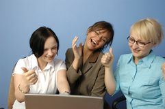 Working team. Satisfaction Royalty Free Stock Images