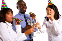Working team celebrating Stock Photography