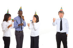 Working team celebrating Royalty Free Stock Photos