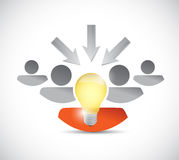 Working team and ideas concept illustration Royalty Free Stock Image