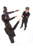 Working team point the finger at a colleague Stock Images