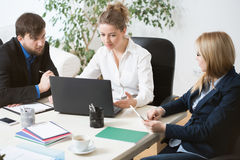 Working in a team Stock Photography