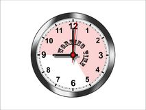 Working time - cdr format royalty free stock photo