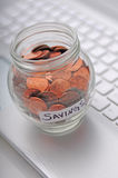 Working to save money Stock Photos