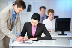 Working together Royalty Free Stock Photos