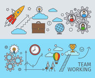 Working together in business concept Stock Photo