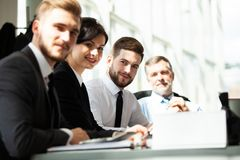 Working together. Business Team Discussion Meeting Corporate Concept. royalty free stock photos